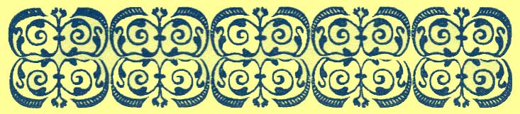 Larger black and white decorative rectangle, with repeating tracery design motifs Type 2.