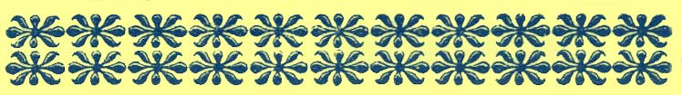 Larger black and white decorative rectangle, with repeating double row of flowers design of motifs Type 3.
