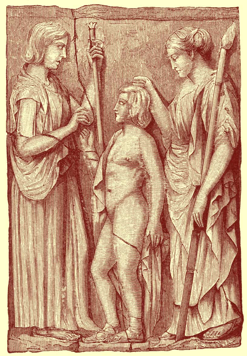 Elfinspell demeter or ceres manual of mythology by alexander s black and white photograph of artwork relief sculpture of long gowned demeter ceres and buycottarizona Image collections