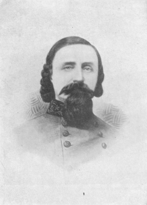 Black and white photograph of General Pickett, in uniform.