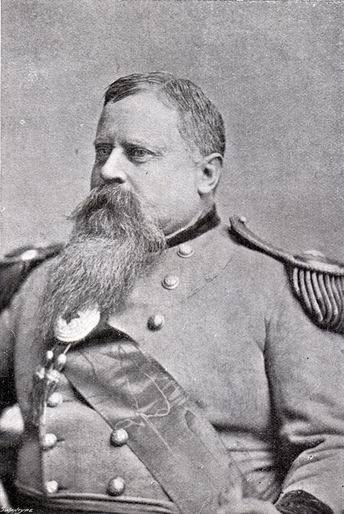 Photograph of a portrait of General Fitzhugh Lee in uniform.