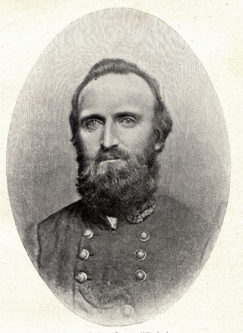 Engraving of a portrait of General T. J. (Stonewall) Jackson.  His last portrait made while alive.
