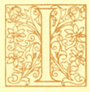 Block Print of the decorated letter I