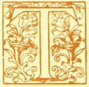 Block Print of the decorated letter T