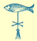An Engraving of a weathervane in the form of a fish, from Filey, England.