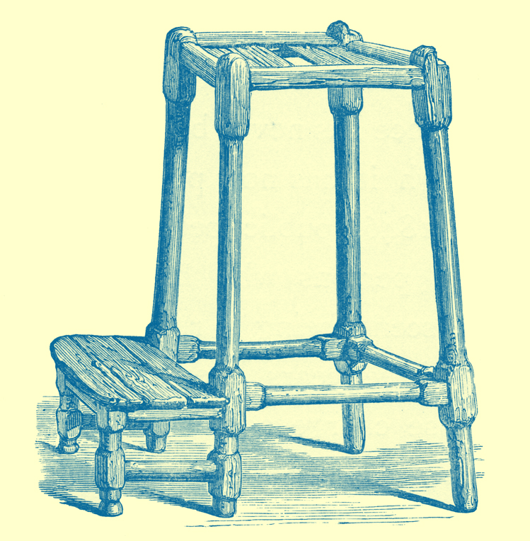 An Engraving of a Repentance Stool.