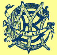 Printer's mark, stylized initial G,B, I with a banner over them stating the motto Fiat Lux.
